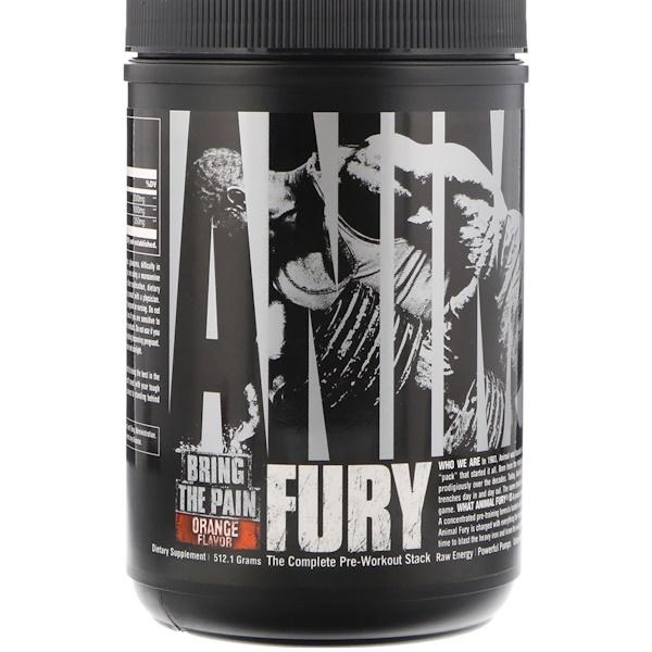 Universal Nutrition, Animal Fury,橙味,512、1克