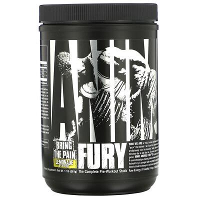 Universal Nutrition Animal Fury, Lemonade, 1.1 lb (501 g)