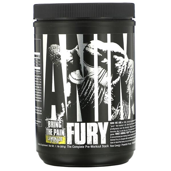Universal Nutrition, Animal Fury,柠檬味,1.1 磅(501 克)