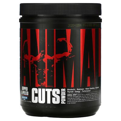 Купить Universal Nutrition Animal Cuts Powder, Blue Ice Pop, 8.7 oz (248 g)