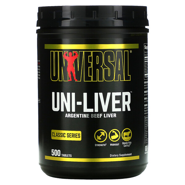 Classic Series, Uni-Liver, Argentine Beef Liver, 500 Tablets