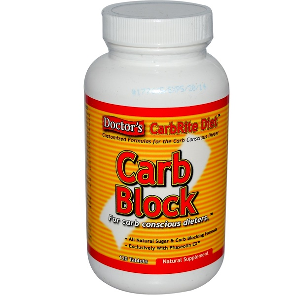 Universal Nutrition, Doctor's CarbRite Diet, Carb Block, 120 Tablets (Discontinued Item)
