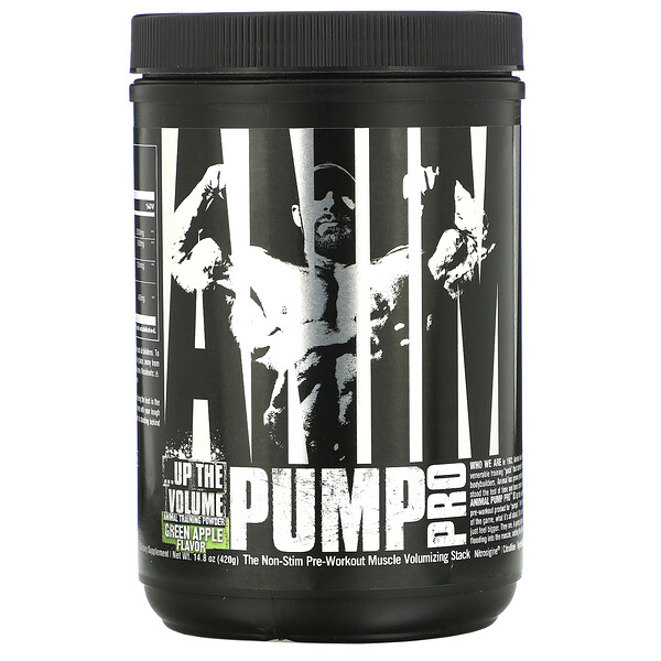 Animal Pump Pro, Non-Stim Pre-Workout, Green Apple, 14.8 oz (420 g)
