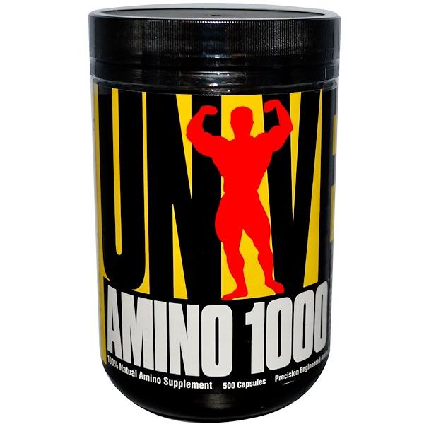 Universal Nutrition, Amino 1000, специально разработанная аминокислотная формула, 500 капсул