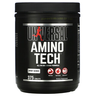 Universal Nutrition, Amino Tech, All-In-One Amino Formula, 375 Tablets