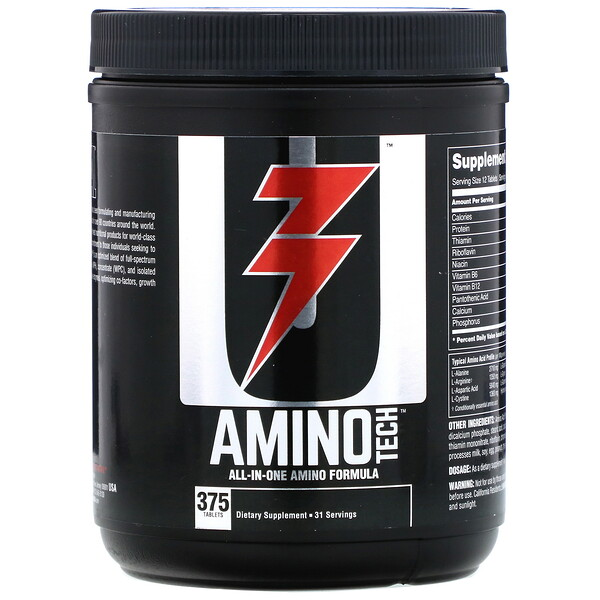 Amino Tech, All-In-One Amino Formula, 375 Tablets