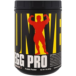 Юниверсал Нутришэн, Egg Pro, Instantized Egg White Powder, Chocolate , 1 lb (454 g) отзывы