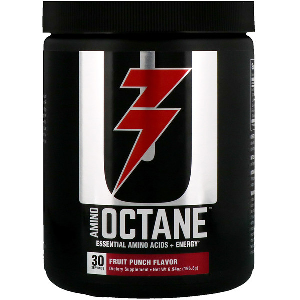 Amino Octane, Essential Amino Acids + Energy, Fruit Punch, 6.94 oz (196.8 g)
