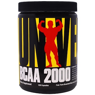 Universal Nutrition, BCAA 2000, 120 Capsules