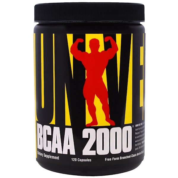Universal Nutrition, BCAA 2000, 120 Capsules (Discontinued Item)