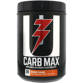 Universal Nutrition, Carb Max, Replenish Glycogen & Electrolytes, Orange, 1.39 lb (632 g)