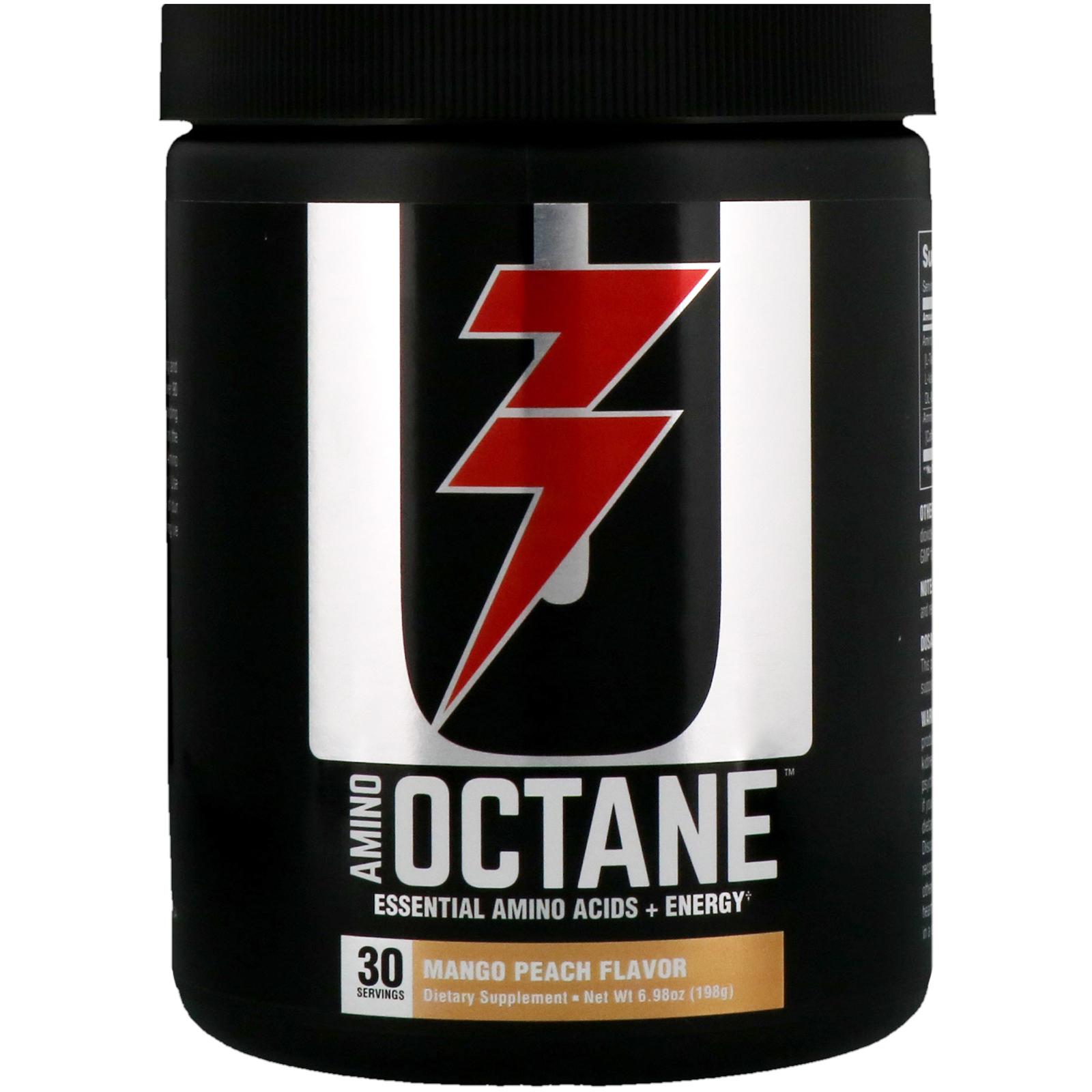 Universal Nutrition Amino Octane Essential Acids Energy Ultimate Bcaa 500mg 120 Caps Mango Peach 698