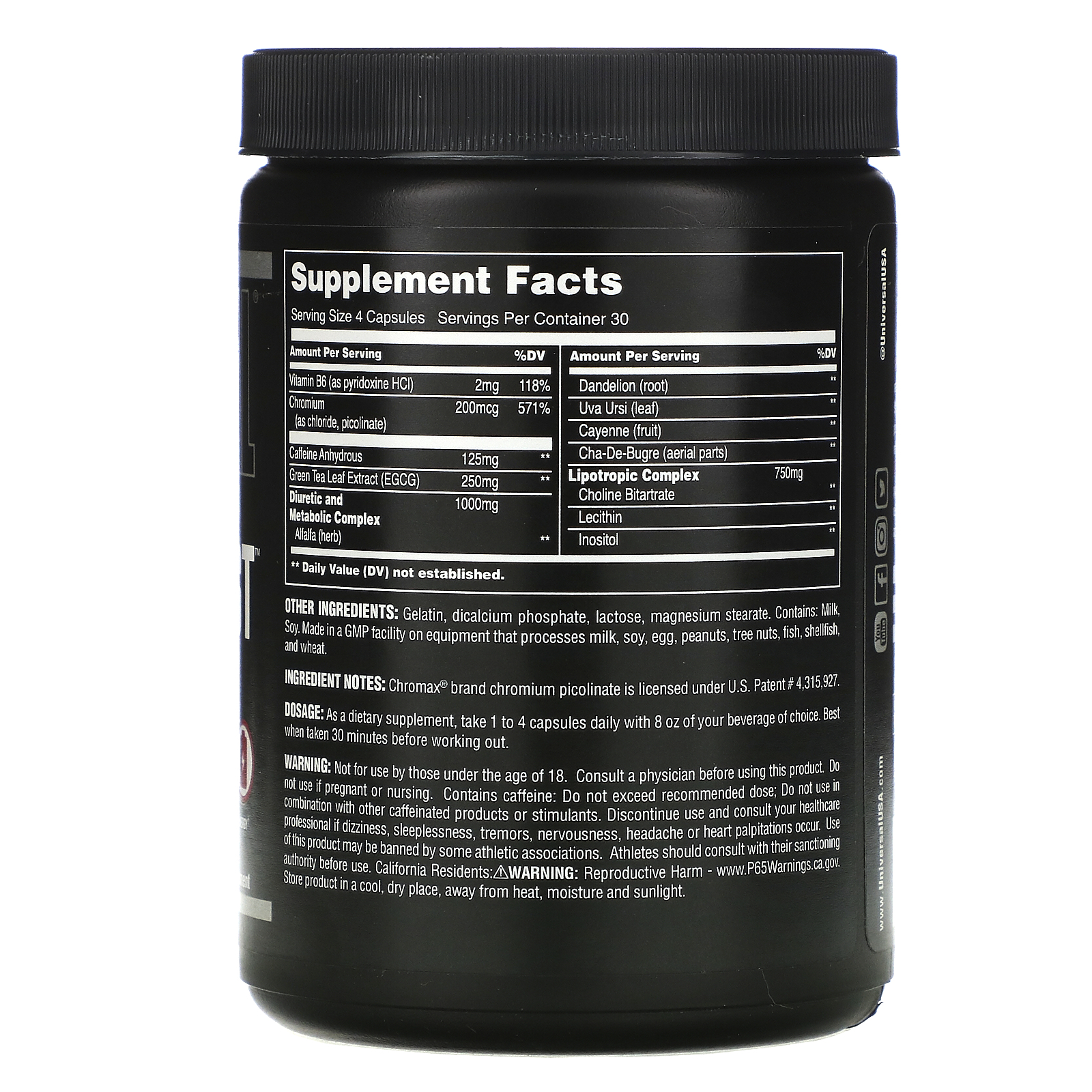universal ripped fast fat burner review