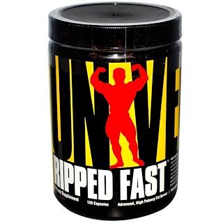 Universal Nutrition, リップド・ファスト, アドバンスト, 高効能脂肪燃焼剤, 120 カプセル
