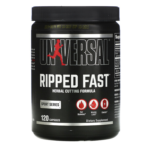 Universal Nutrition, Ripped Fast, Herbal Cutting Formula, 120 Capsules