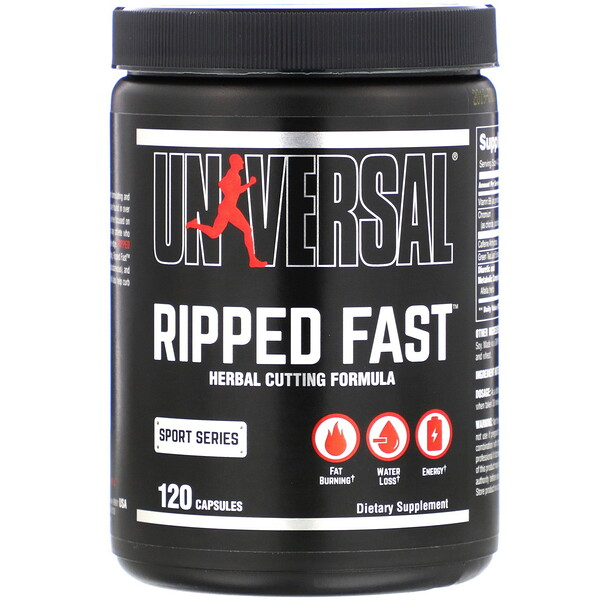 Ripped Fast, Herbal Cutting Formula, 120 Capsules