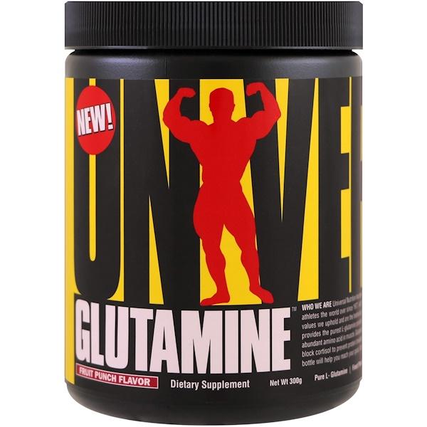 Universal Nutrition, 谷氨酰胺,果汁噴趣酒,300克
