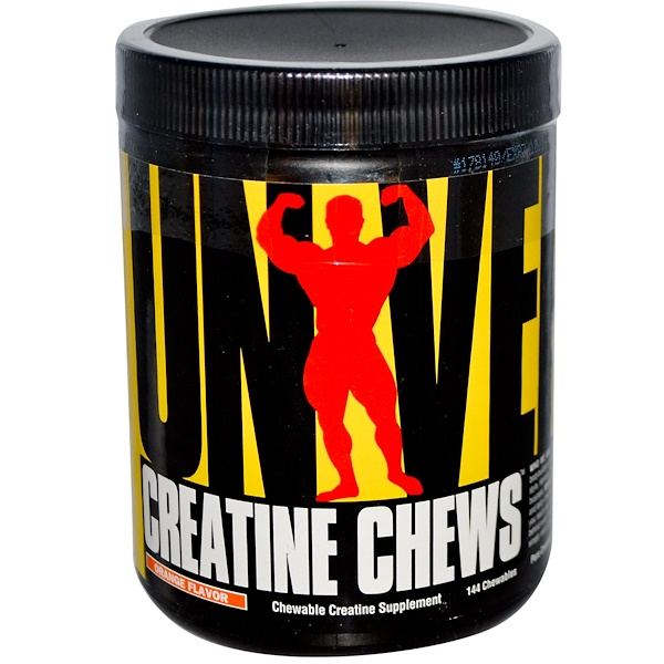 Universal Nutrition, Creatine Chews, Chewable Creatine Supplement, Orange Flavor, 144 Chewables (Discontinued Item)