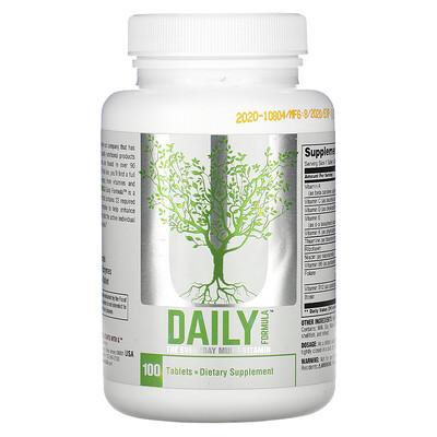Universal Nutrition DailyFormula, мультивитамины на каждый день, 100таблеток  - Купить