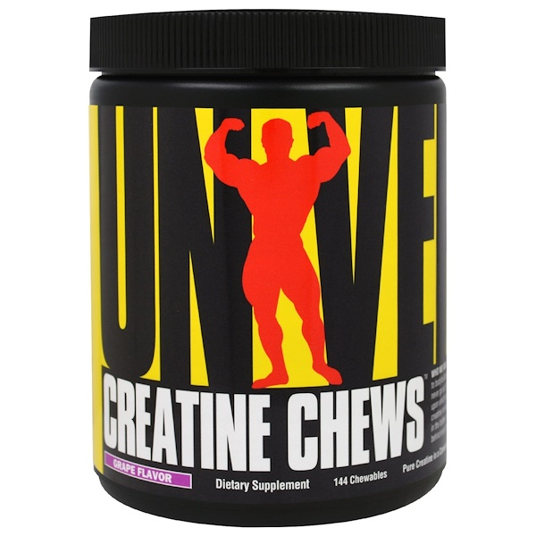 Universal Nutrition, Creatine Chews, Grape Flavor, 144 Chewables (Discontinued Item)