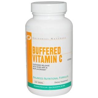 Universal Nutrition, Buffered Vitamin C, 1000 mg, 100 Tablets
