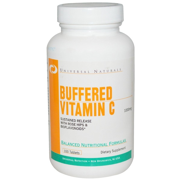 Universal Nutrition, Buffered Vitamin C, 1000 mg, 100 Tablets (Discontinued Item)