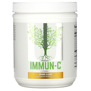 Universal Nutrition, Immun-C, Premium Vitamin C Powder, Orange Flavor, 9.5 oz (271 g)