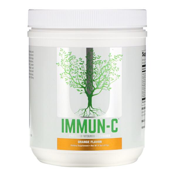 Immun-C, Premium Vitamin C Powder, Orange Flavor, 9.5 oz (271 g)