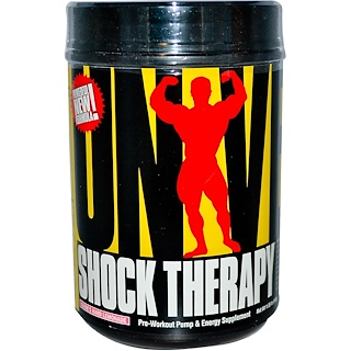Universal Nutrition, Shock Therapy, Pre-Workout Pump & Energy, Clyde's Hard Lemonade, 1.85 lbs (840 g)