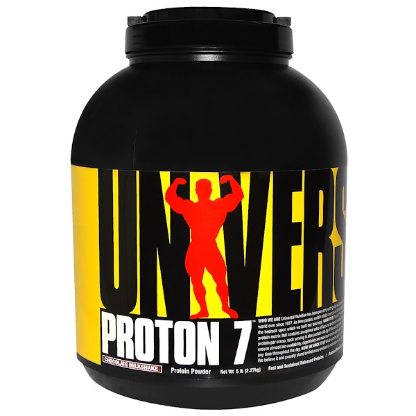 Universal Nutrition, Proton 7, Chocolate Milkshake, 5 lb (2.27 kg) (Discontinued Item)