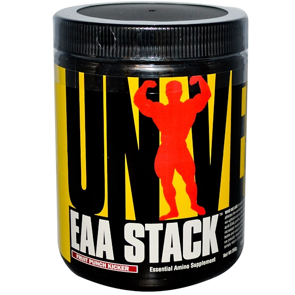 Universal Nutrition, EAA Stack, Essential Amino Supplement, Fruit Punch Kicker, 260 g (Discontinued Item)