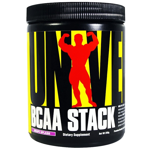 Universal Nutrition, BCAA Stack, Grape Splash, 250 g (Discontinued Item)