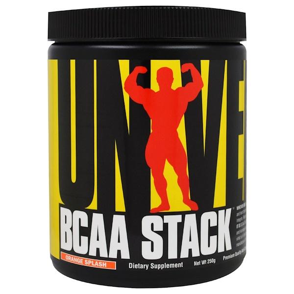 """Universal Nutrition, Комплекс аминокислот """"BCAA Stack"""", вкус «апельсиновый взрыв», 250 г (Discontinued Item)"""