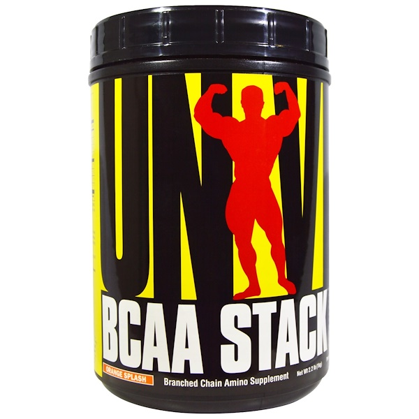 Universal Nutrition, BCAA Stack, Orange Splash, 2.2. lb (1 kg) (Discontinued Item)