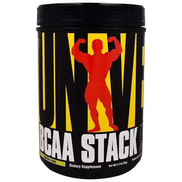 Universal Nutrition, BCAA Stack支鏈氨基酸補充劑,檸檬酸橙口味,2、2磅(1千克)