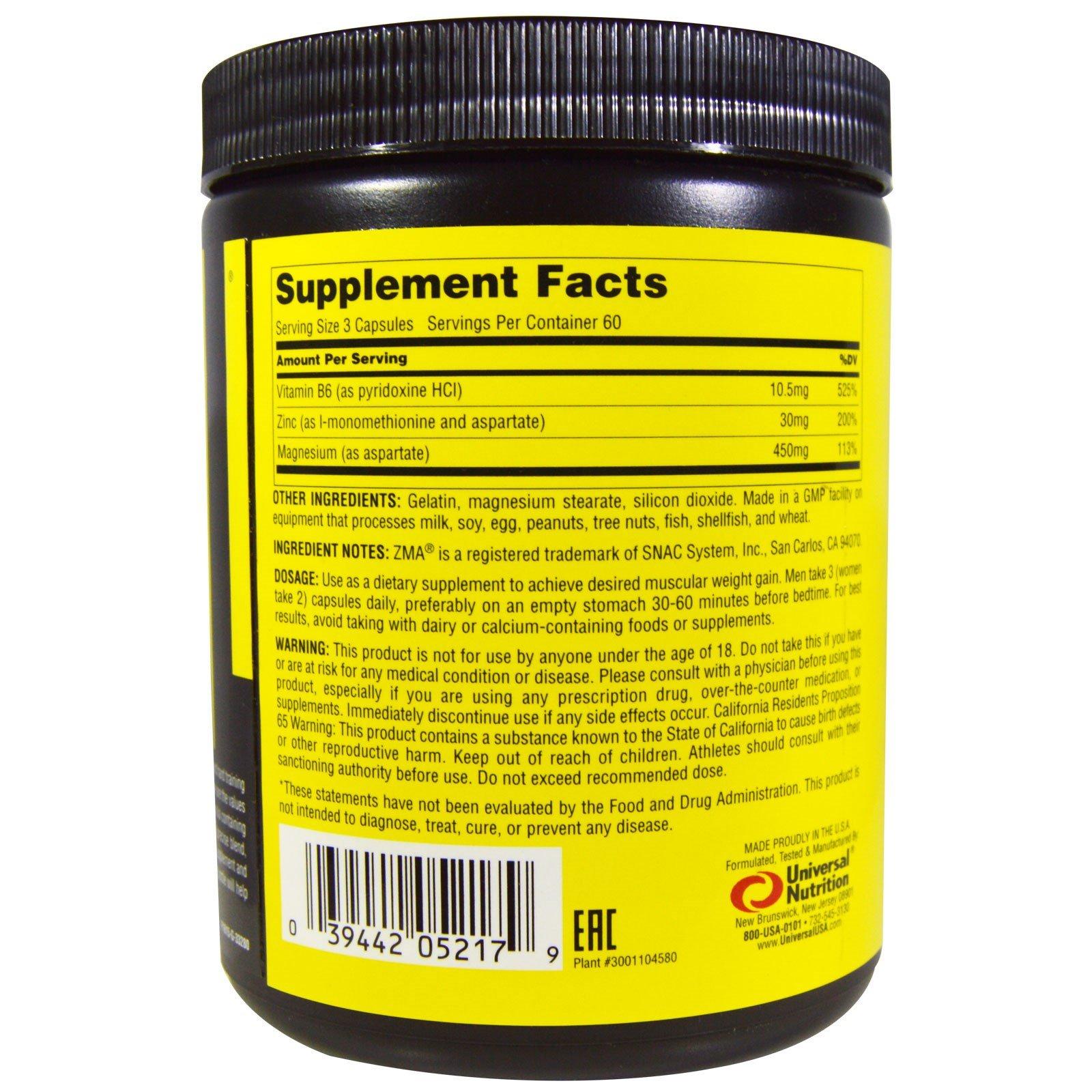 Universal Nutrition, ZMA Pro, 180 Capsules - iHerb com