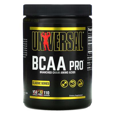 Universal Nutrition ClassicSeries, BCAA Pro, аминокислоты с разветвленной цепью, 110капсул