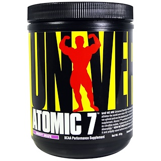 Universal Nutrition, Atomic 7, BCAA Performance Supplement, Groovy Grape, 412 grams
