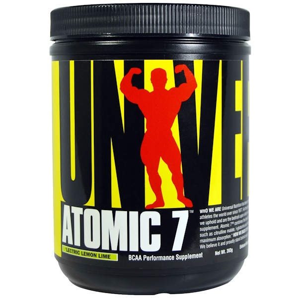 Universal Nutrition, Atomic 7, BCAA Performance Supplement, 'Lectric Lemon Lime, 393 g (Discontinued Item)