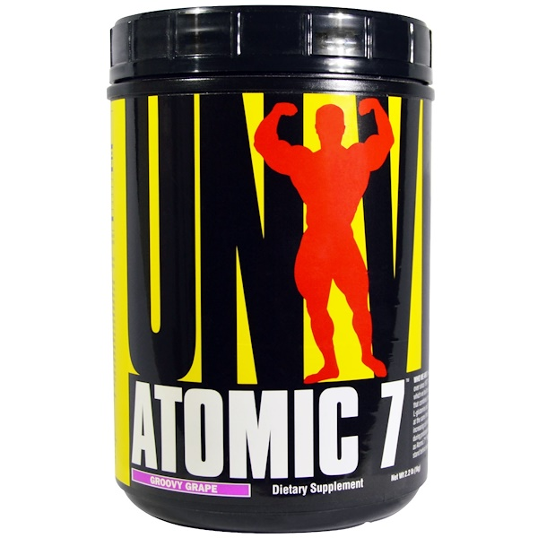 Universal Nutrition, Atomic 7, Groovy Grape, 2.2 lbs (1 kg) (Discontinued Item)