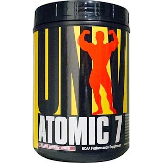 Universal Nutrition, Atomic 7, добавка для повышения производительности с BCAA, черемуха, 2,2 фунта (1 кг)