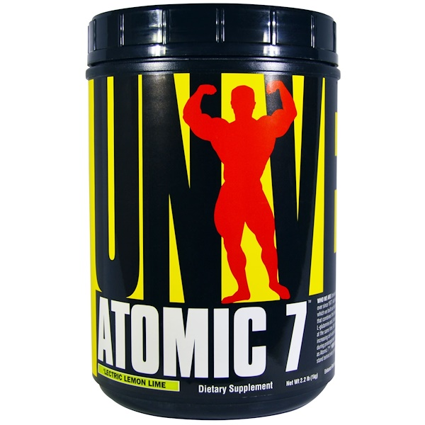Universal Nutrition, Atomic 7, 'Lectric Lemon Lime, 2.2 lbs (1 kg) (Discontinued Item)