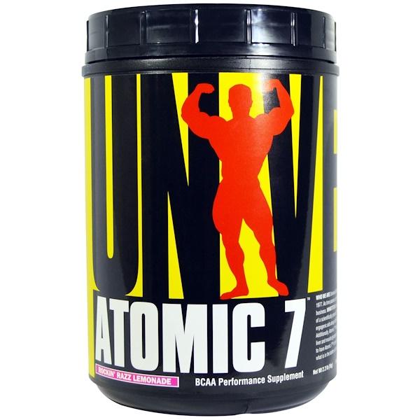 Universal Nutrition, Atomic 7, BCAA Performance Supplement, Rockin Razz Lemonade, 2.2 lbs (1 kg) (Discontinued Item)