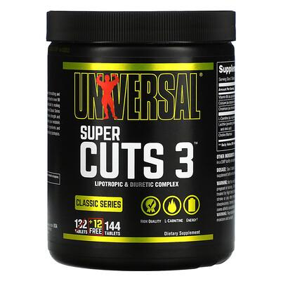 Universal Nutrition Classic Series, Super Cuts 3, Lipotropic & Diuretic Complex, 144 Tablets