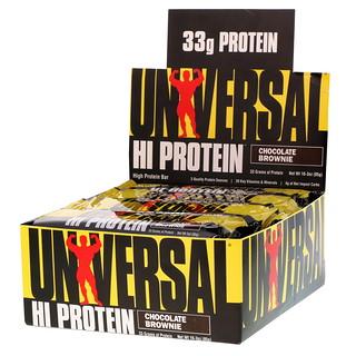 Universal Nutrition, HI Protein Bar, Chocolate Brownie, 16 Bars, 3 oz (85 g) Each