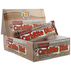 Universal Nutrition, Doctor's CarbRite Diet Bar, Sugar Free, Frosted Cinnamon Bun, 12 Bars, 2.00 oz (56.7 g) Each