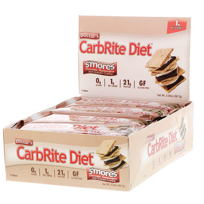 Купить Universal Nutrition Doctor's CarbRite Diet Bars, Smores, 12 Bars, 2.00 oz (56.7 g) Each