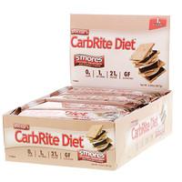 Диетические батончики без сахара Doctor's CarbRite, Смор, 12 батончиков, 2 унции (56,7 г) каждый - фото