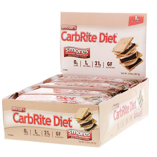 Universal Nutrition, Doctor's CarbRite Diet Bar, Sugar Free, Smores, 12 Bars, 2.00 oz (56.7 g) Each