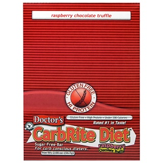 Universal Nutrition, Doctor's CarbRite Diet, Sugar Free Bar, Raspberry Chocolate Truffle, 12 Bars, 2.00 oz (56.7 g) Each